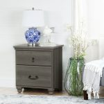 Gray Maple 2 Drawer Night Stand – Noble
