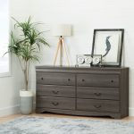 Gray Maple 6-Drawer Double Dresser – Vintage