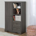 Gray Maple Armoire with Drawers – Savannah