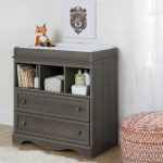 Gray Maple Changing Table with Drawers – Savannah