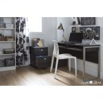 Gray Oak Desk with Storage – Interface