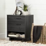 Gray Oak Nightstand with Drawers – Fynn