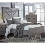 Gray Rustic Contemporary King Size Bed – Austin