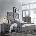 Gray Rustic Contemporary Queen Size Bed – Austin