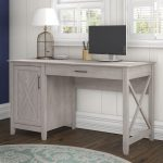 Gray Single Pedestal Desk (54 Inch) – Key West