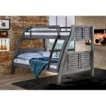 Gray Twin-over-Full Bunk Bed – Easton