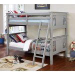 Gray Twin-over-Twin Bunk Bed – Spring Creek