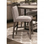 Gray Upholstered Counter Stool – Polo