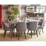 Gray Wash 7 Piece Dining Set – American Retrospective Collection