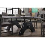 Gray and Black Industrial Dining Table – Factory Collection