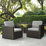 Gray and Brown 2 Piece Wicker Patio Furniture Set – Palm Harbor