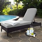 Gray and Brown Wicker Patio Chaise Lounge – Palm Harbor