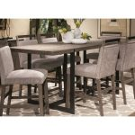 Gray and Metal Counter Height Dining Table – Polo