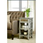 Graywash Accent Side Table