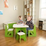 Green Kids Table and 2 Chairs – Play Room/Kids