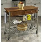 Gun Metal/Caramel Kitchen Cart