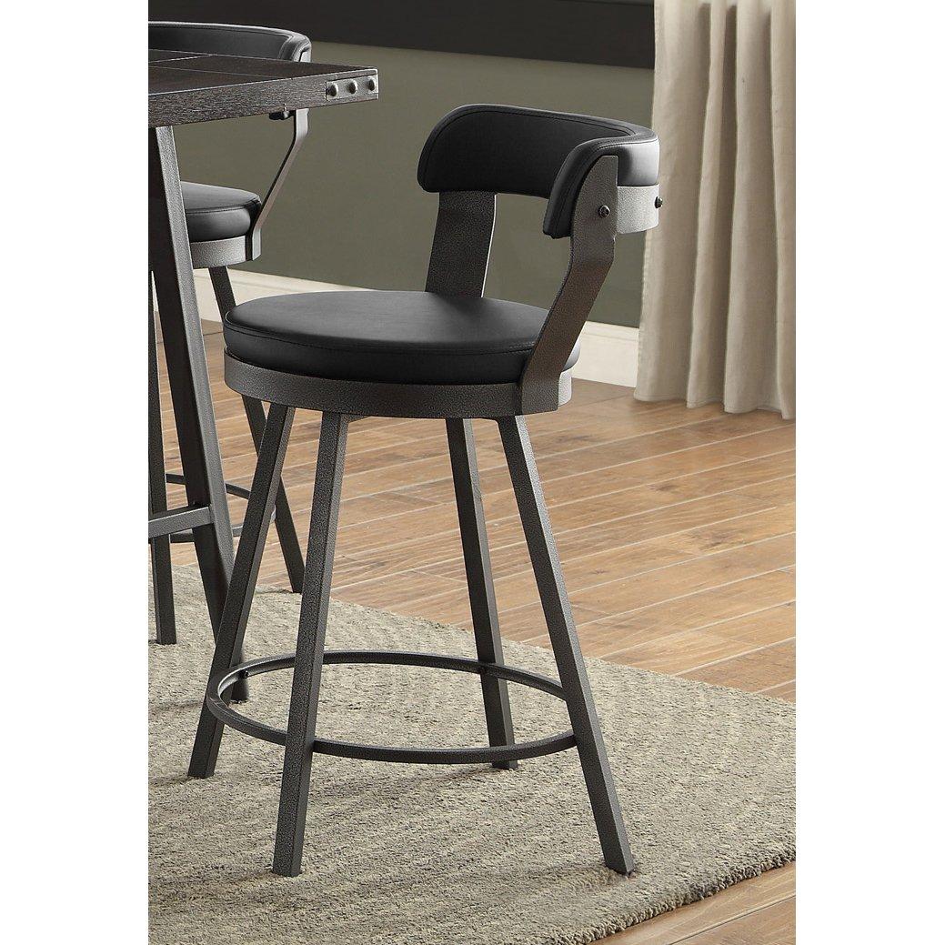 Miraculous Gunmetal And Black Modern Counter Stool Appert Cjindustries Chair Design For Home Cjindustriesco