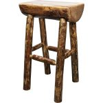 Half Log Barstool – Glacier Country