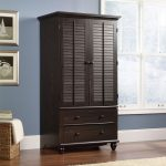 Harbor View Antiqued Brown Armoire