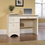 Harbor View Antiqued White Computer Desk