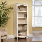 Harbor View Antiqued White Library Bookcase