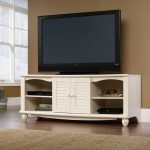 Harbor View Antiqued White TV Stand
