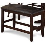 Harrison Brown 24 Inch Counter-Height Bench