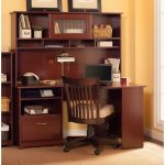 Harvest Cherry Corner Desk with Hutch – Cabot