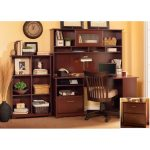 Harvest Cherry Corner Desk with Hutch, File, and Bookcase – Cabot