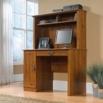 Harvest Mill Abbey Oak Computer Desk with Hutch