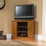 Harvest Mill Abbey Oak Corner TV Stand