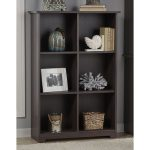 Heather Gray 6-Cube Bookcase – Cabot
