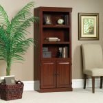 Heritage Hill Classic Cherry Library Bookcase with Doors