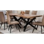 Hickory and Black Modern Dining Table – Empire Collection