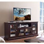 Highboy Espresso 70 Inch TV Stand