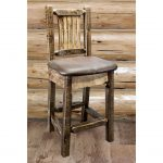 Homestead Counter Height Barstool w/ Back – Saddle Upholstery