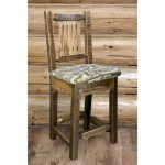 Homestead Counter Height Barstool w/ Back – Wildlife Upholstery