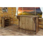 Homestead Rustic Bar with Foot Rail