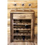 Homestead Rustic Wine Cabinet