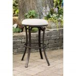 Indoor-Outdoor Backless Swivel Counter Stool – Bryce