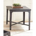 Industrial Tobacco Brown Barn Wood End Table – Sherlock
