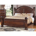 Isabella Dark Pine Queen Size Bed