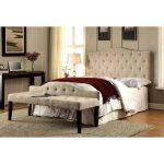 Ivory Upholstered Full/Queen Headboard – Venice