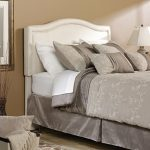 Ivory Upholstered Queen Size Headboard – Palladia
