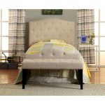 Ivory Upholstered Twin Headboard – Venice