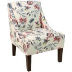 Jacobean Bright Multi Swoop Arm Chair