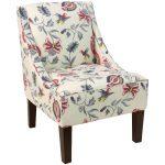 Jacobean Bright Multi Swoop Arm Chair