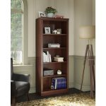 Kathy Ireland Cherry 5-Shelf Bookcase – Bennington