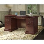 Kathy Ireland Cherry Manager's Desk – Bennington