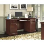 Kathy Ireland Cherry Pedestal Desk – Bennington